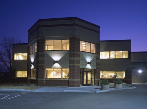 Harris after hours--a shot of Harris headquarters in   St. Paul, Minnesota.